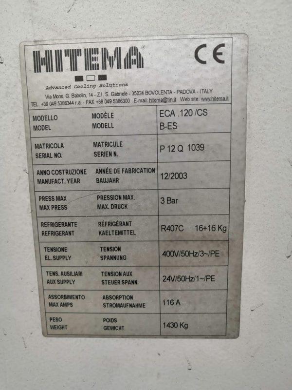 Б/У чиллер HITEMA ECA 120 - фото 5